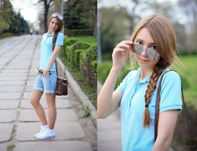 Lily P. - Bershka Sunglasses, Uniqlo Polo, Accesorize Bag, Zara Belt, Converse Sneakers - Summer is coming and I feel great!