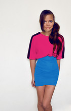 Laura Espinosa - Zara Shirt. - Color Blocking.