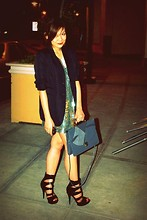 Jennica Castro - Miu Blazer, American Apparel Sequined Dress, Black Shoes - Dinner date with friends<3