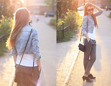 Lily P. - Zara Pants, Topshop Jacket, Tom Ford Sunglasses - Beautiful sunset