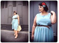 Stephanie - BigBeauty Zwicky - Asos Dress, Karen Monny Silk Flowers, Zara Belt, Miu Bag, Steve Madden Shoes, Chanel Sunglasses - + Pastel +