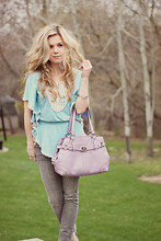 Kelly Hicks - Target Blouse, Coach Purse, Forever 21 Jeans - SPRING PASTELS