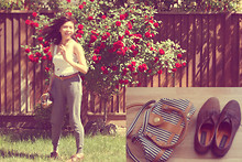 Cyress Cervantes - Thrift Store Oxford Shoes, Shoulder Bag, Forever 21 Pants - Its like a wind, you cant see it but you can feel it