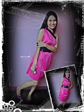 "Spelled as ""G""essica Caser - Penshoppe Ballet Flats, Bow Ring, Neon Pink Dress - Who says pink is just for kids?"