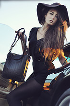 Thilda Mörlid Berglind - Black Jumpsuit, H&M Brown Floppy Hat, Black - I WANT YOUR EVERYTHING AS LONG AS IT'S FREE