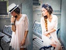ANGELA ROZAS SAIZ - Panama Hat, Topshop Dress - ZENOBIA