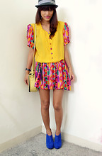 Pax I. - Dress, Bag, Chickflick Wedges - Rainbow Bright