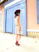 Thelittleworldoffashion Aude - Pimkie Shoes, Primark Dress, Vintage Hat - Quand il me parle tout bas