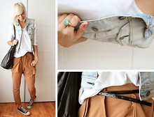 Sietske L - Undefined Jumper, Primark Denim Jacket, Cos Oversized Bag, H&M Hareem Pants - CASUAL.