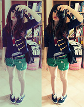 Ludovica C. - Stradivarius Shorts, Vans Off The Wall, H&M Jacket - What separates me from you.