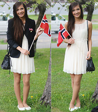 Caroline Maria - Bik Bok Dress, H&M Bag, H&M Jacket, Økonomisko Shoes - Norway's National Day