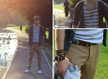 Andrew P - Primark Striped Vest, H&M Chinos, Topman Thin Hoodie, Fatface Belt, Next Watch - Blood, Tears & Gold