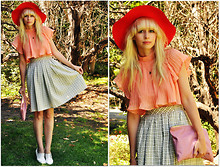 Coury Combs - Romwe Blouse, Fancytreehouse Skirt, Vintage Hat, American Apparel Pouch - You were born to fly.