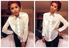 Baitong Namasonthi - New Look Blouse W/ Diy Studs, Accessorise Leggins - $wag my collar