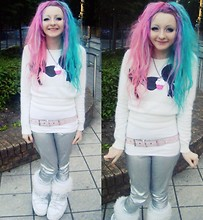 Cookie Crumble - Ebay Disney Jumper, Sequin Belt, It Says My Name! 'Cookie' Cupcake Necklace, Silver Pvc Leggings, Snow Boots - Disney, Fluff, Space & Stuff