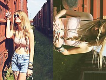 Isabella Rakonić - Topshop Top, Levi's® Shorts - My sunny one shines so sincere