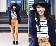 Connie Cao - Forever 21 Hat, Forever 21 Top, Urban Outfitters Cardigan, Asos Belt, Asos Pants, Asos Wedges - SOMETHING SIMPLE