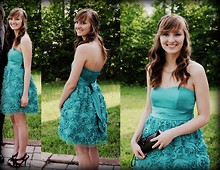 Kay H - Group Usa Rose Dress, Payless Black Ruffle Clutch, X Appeal Black Strap Heels - 2011 Senior prom!