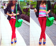 Jo Estrella - Zara Striped Top, Cambridge Satchel Green, Michael Antonio Platforms - BloggersUnitedPH