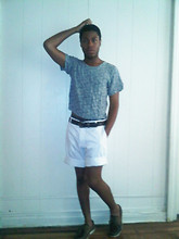 Omari Francis - American Apparel Cropped Tee, H&M White Shorts, Sperry Boat Shoes - A summer outing