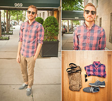 Stay Classic - J. Crew Light Weight Shirt, Sperry Boat Oxfords, Levi's® Khakis, Ray Ban Clubmasters - May 29, 2011