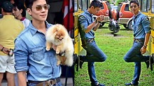 Kutik T - Ray Ban Aviator Sunglasses, Zara Denim Shirt, Uniqlo Slim Cut Jeans, Toms Navy Classic - Denims and Fur