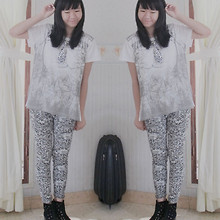 Nathania Hulu - Naughty Leopard Tie, T Shirt, Leopard Legging, Ankle Boots - New Bangs!