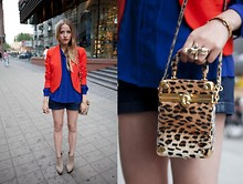 Jessica Mercedes Kirschner - Vintage New York Bag, Primark Ring, Zara Blazer, Sh Shirt, H&M Shorts, Finsk Shoes - LEO VINTAGE BAG