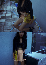 Lola Jaro - American Apparel Clutch, Urban Outfitters Blazer, H&M Shorts - Hey, stripper