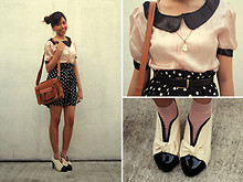 Gela Muñoz - Fancieta Silk Madeline Blouse, Sugarita Polka Dotted Dress, Fancieta School Girl Satchel, Chanel Dupes - Today I Turn Forever21
