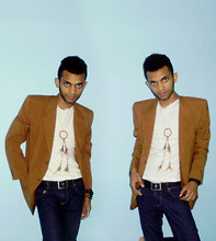 Fahad Scale - Made In Tailor Over Size Blazer, Basic White Tshirt, Dreamcatcher Necklace, Cheap Monday Dark Blue Jeans - Dreamcatcher
