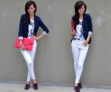 Daisyline . - My Boyfriend's Shoes, River Island Jeans, Jacket, Clutch, Bershka T Shirt - Smile :)