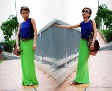 Mel O - Dkny Veryold Tank, The Cambridge Satchel Co., Converse Shoes, Sellingonmyblog Skirt/Fauxfurtail/Twotoneshades - S.O.U.L