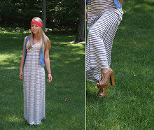 Leslie Blair Sullivan - Forever 21 Maxi Dress, Forever 21 Heels, Jcpenny Headband - I was born in high heels and I've worn them ever since