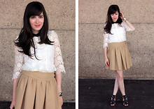 Fashion Pea - The Kooples Lace Blouse - Outfit 110611