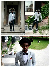 Sidney Richardson - Bow Tie, Vintage Scarf, Blazer, Toms - Love the life you live ; Live the life you love.