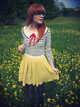 Vicki Harvey - Laundry Room Top, Topshop Skirt - Yellow fields...