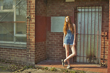 Sophie Bailey - Converse, Topshop Denim Playsuit - Lil walk
