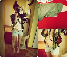 Caro X. - Weekday Tshirt, Hotpan, Secondhand Handbag, Canon 1000d - Let's Go Out!