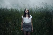Lubica Martincova - H&M Basic Top, Topshop Denim Skirt - The Sky reminds me you're not here