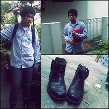 Andre ∞ - Fake London Shirt, Jeans, Boots - GO TO SCHOOL WITH BOOTS