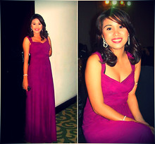 Jane Aguilar - Naf Flowy Long Gown, Department Store 8 Dime Dangling, Department Store 2 Layer Dime - Diplomatic Dinner
