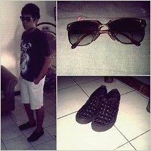Andre ∞ - A.P.C. T Shirt, My Father Sunglasses, Vans Shoes - I'm ready for party
