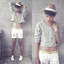 Jeroy Balmores - Boracay Store Hat, Forever 21 Necklace, Forever 21 Shorts, Prp Belt, Wade Shoes - No BreakFast, No Lunch! ♥