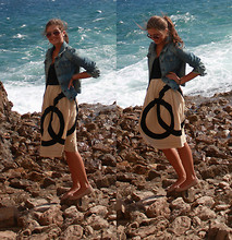 Stacey A. - Ikks Denim Jacket, Topshop Flats, Oleg Biruykov Skirt - At the Sea