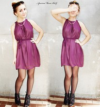 Maria Aparina - Aparinamaria Aparinamariadesigner - Purple chiffon dress
