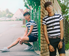 Pratama Putra Dany - H&M Striped T Shirt, H&M Short Pants, H&M Striped Shoes - S to the TRIPES!