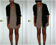 Soraya S. - Goodwill Plaid Shirt, Forever 21 Dress - You Left Your Mark