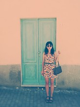 Megan K. Stoianova - Ray Ban Vntage Sunglasses, Unknown Flower Dress, Corto Moltedo Bag, H&M Flats - Summertime Blues