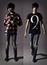 BRIAN KIKWAI - H&M Checkers Shirt, Friend's Design, Ripped Jeans - THE NUMBER THAT REPRESENT US